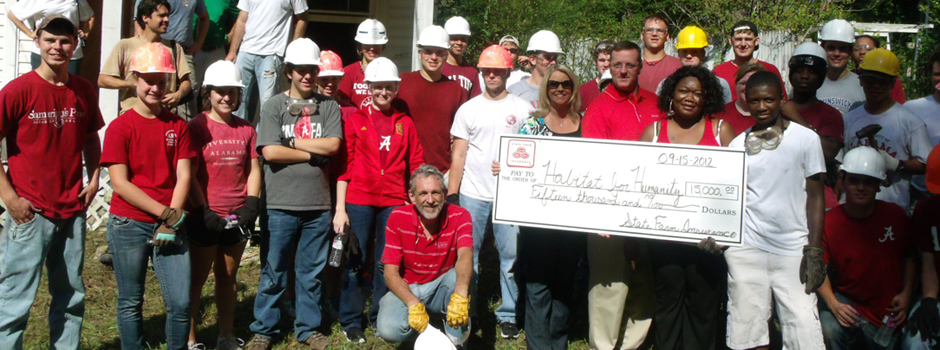 Our chapter at a ground-breaking ceremony rebuilding a home in Centreville, AL.